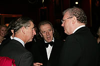 HRH The Prince of Wales, Sir David Frost and Sir Howard Stringer