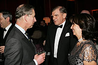 HRH with Gary Ralfe, CEO of De Beers, and former Dragon School stooge, and Mrs Ralfe